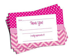 Thank You Cards Baby Shower Amazon Com 50 Pink Chevron Fill In Thank You Cards Baby Shower