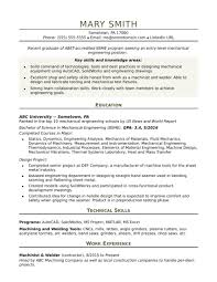 Mechanical Engineer Resume Sample Inspiration Sample Engineer