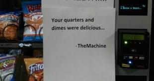 Do Vending Machines Take Dimes Interesting 48 Notes That Were Actually Found On Vending Machines CollegeHumor