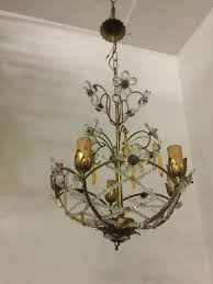 vintage chandelier with beads and crystal flowers 10 890 00