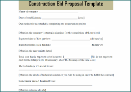Free printable contractor proposal forms rome fontanacountryinn com. Free Printable Construction Bid Template Bogiolo