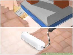 how to get spray paint off concrete image titled paint an outdoor concrete patio step 14