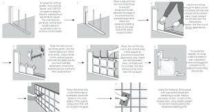 installing glass block individual windows basement blocks in shower window with mortar installing glass block window