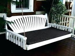 outside swing bed porch building plans cushion