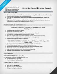 Resume Of Security Guard Sample Resume For Security Officer Sample