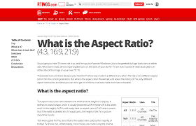 What Is The Aspect Ratio 4 3 16 9 21 9 Rtings Com
