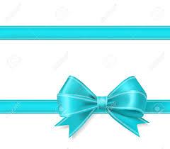 Blue Ribbon Design Aqua Blue Ribbon Bow Background Decorative Design Elements Vector