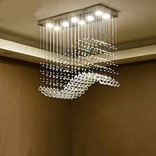 moooni modern crystal chandelier lighting wave ceiling light 4