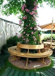 tree seats garden furniture teak hexagonal e24 seats