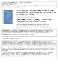 (PDF) A morphometric study of Armeria canescens aggr ...