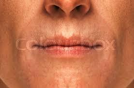 nice face men s lips close up stock