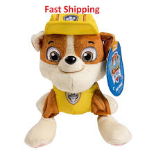 Paw Patrol Deluxe Lights And Sounds Plush Real Talking Rubble Paw Patrol Real Talking Rubble Plush Gift Toy Children Paw