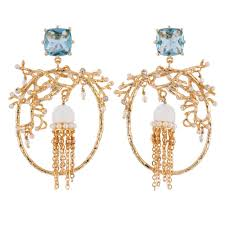 jellyfish and c earrings