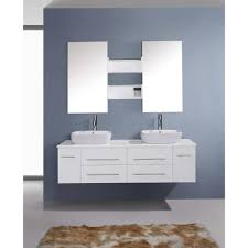 White Double Bathroom Vanities Virtu Usa Augustine 60 Double Bathroom Vanity Set With White