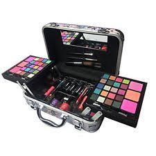 makeup set artist kit make up trunk train professional case cosmetics women new
