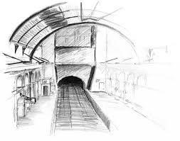 architecture sketch wallpaper. Popular Interior Architecture Sketches With Paddington Station By Emmet Sketch Wallpaper