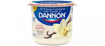 yogurt brand names.  Yogurt Dannon Whole Milk Vanilla Yogurt With Brand Names