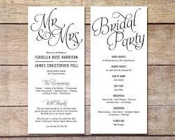 Wedding Ceremony Brochure Write A Wedding Ceremony Program