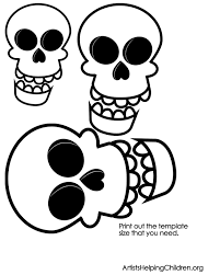 skulls template printable how to make q tip skeletons kids crafts & activities on how to do templates