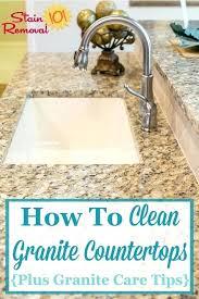 clean granite countertops here are instructions for how to clean granite as well as granite care