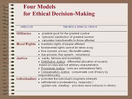 Ethical Decision Making Models Prescriptive Approaches To Ethical Decision Making In Business Ppt