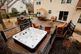 backyard landscaping deck. deck with hot tub area backyard landscaping
