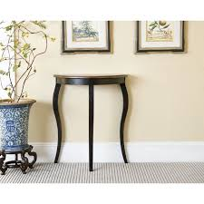 small entry table. Simple Black Wooden Half Moon Entry Table Small