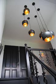 Zwarte Losse Lampen In Trapgat Vide Ideeën Voor Het Huis Hal