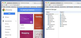 get back the old better bookmarks manager in chrome