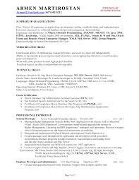 sql developer resumes