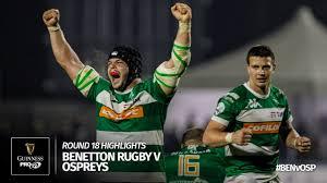 Round 18 Highlights: Benetton Treviso v Ospreys Rugby