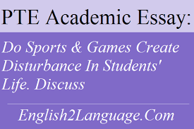 essay do sports games create disturbance in students life discuss