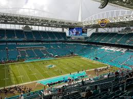 Miami Dolphins Hard Rock Stadium Seating Chart Hard Rock Stadium Section 321 Miami Dolphins