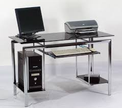 Small Glass Computer Desks Home And Garden Decor Uncluttered A pertaining  to small glass computer desk
