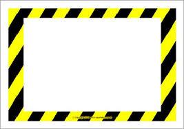 Editable Warning Danger Sign Templates Sb10387