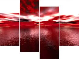 red contemporary canvas wall art
