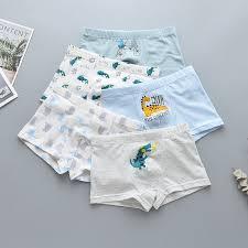 <b>5PCS</b> children's <b>2019</b> new underwear cotton boys baby small shorts ...