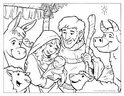 Nativity Scene Coloring Sheets Manger Page Free Pages Printable