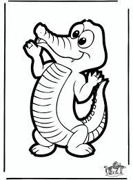 Coloring Pages Crocodile Krokodil Kleurplaat Crafting Pinterest