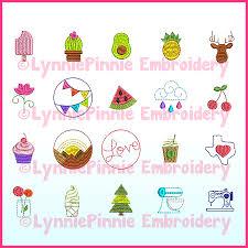 Mini Turkey Embroidery Design Mini Icons Set 1 20 Machine Embroidery Design Files 1 5 And