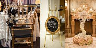 decoration: Dazzling Crafts Of Great Gatsby Party Decorations Applied For  Chair And Table With Flowers
