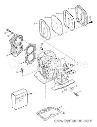 Cylinder block 1988 force outboard 9 9 h0092s88a a crowley