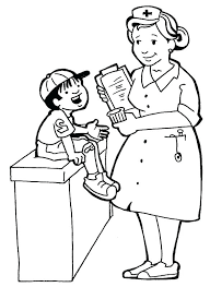 Nurse Hat Coloring Pages At Getdrawingscom Free For Personal Use