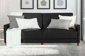 mercury row benitez faux leather convertible sofa  reviews  wayfair