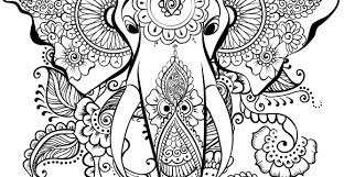 Elephant Mandala Coloring Pages Easy Adult Coloring Pages