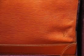 louis vuitton steamer bag epi leather golden brown color for 3