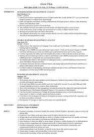 Business Development Analyst Resume Samples | Velvet Jobs