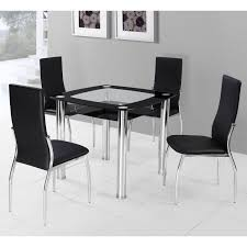Glass Dining Table Set 4 Chairs Glass Dining Room Table Sets Quick View Round Glass Top Dining