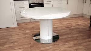 modern round white gloss extending dining table and chairs seats 4 6 inside round white gloss