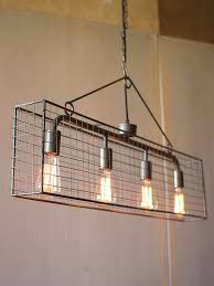 industrial lighting chandelier. Industrial Caged Rectangle Chandelier 461x614 Lighting T